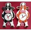 Tehén ingás óra fekete-fehér Holstein fríz