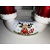 Kézi festésű kerámia adventi koszorú, Rudolffal, a rénszarvassal, 4 db adventi gyertyával