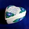 Szív alakú bonbonier versikével