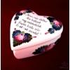 Szív alakú kicsi ékszertartó versikével
