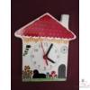 Házikó alakú fali óra