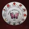 Porcelán tányér ovis jelekkel /12 jel/   Ø26 cm