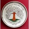 Életfás fali tányér  /Ø32 cm/ 4. osztályos tanárnéniknek, 17 névvel