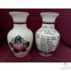 Nagy váza /24 cm/ 4. osztály év végi köszönőajándéka tanárnéniknek, névsorral /27 névvel/