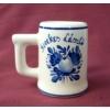 Füles pálinkás pohárka címeres vagy egyéb emblémás 2 cl