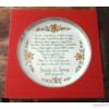 Pizzás tányér Sziszi és Soma házasságkötésére, egyedi verssel