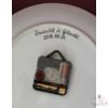 Egyedi festésű fali tányér óra, házasságkötés alkalmából