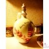 Egyedi festésű fali tányér óra és arató korsó, házasságkötés alkalmából