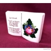 Könyv alakú versikés váza