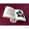Könyv alakú versikés váza, a Himnusszal