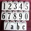 Kézi festésű íves tetejű házszámok