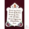 Csúcsos plakett  Hiszek egy Istenben...