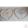 Szív alakú plakett  Szüleimnek Akik minden gondjaikkal értem élnek...
