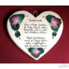 Szív alakú plakett  Unokámnak
