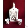 1 literes pálinkás butella 30. születésnapra, 2 db pohárral