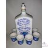1 literes pálinkás butella szett különféle versekkel, 6 db pohárral