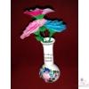 Hosszúnyakú kisváza, az egy szál rózsa vázája /17 cm/