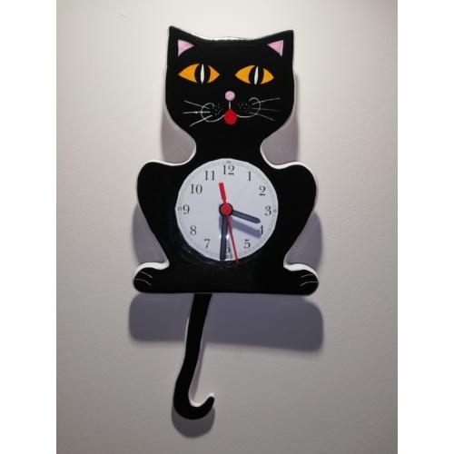 Cica ingás óra fekete / narancssárga szemű/