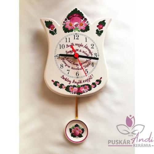 Tulipán alakú ingás fali óra Anyák napjára