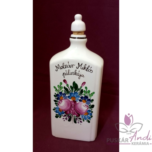 Pálinkás butella egyedi felirattal