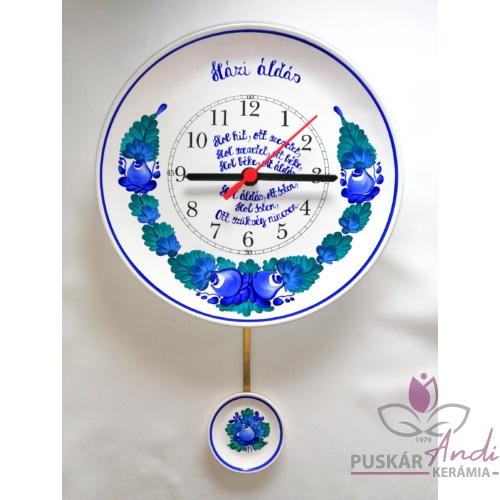 Fali tányér ingás óra rövid idézettel, verssel  /Ø22 cm/