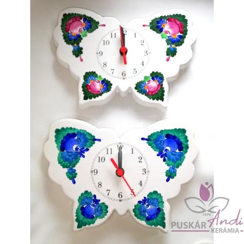 Pillangó alakú fali óra