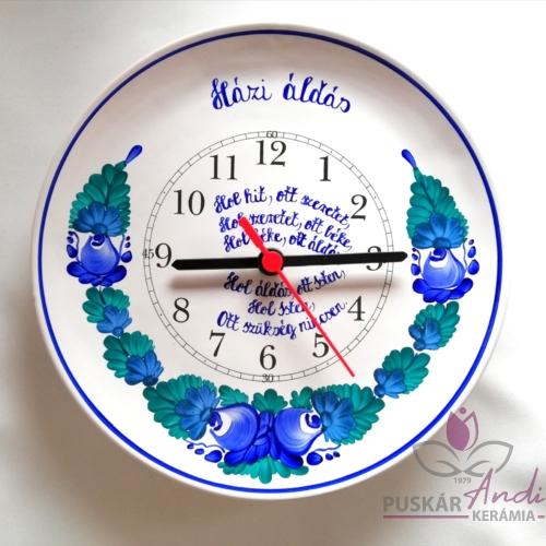 Fali tányér óra rövid idézettel, verssel  Ø22 cm