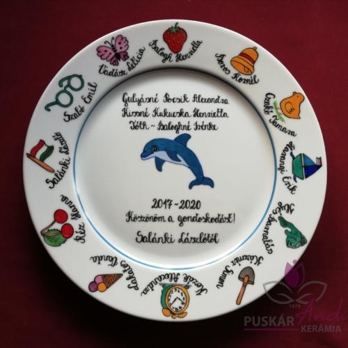 Fali tányér ovis jelekkel /12 jel/   Ø26 cm