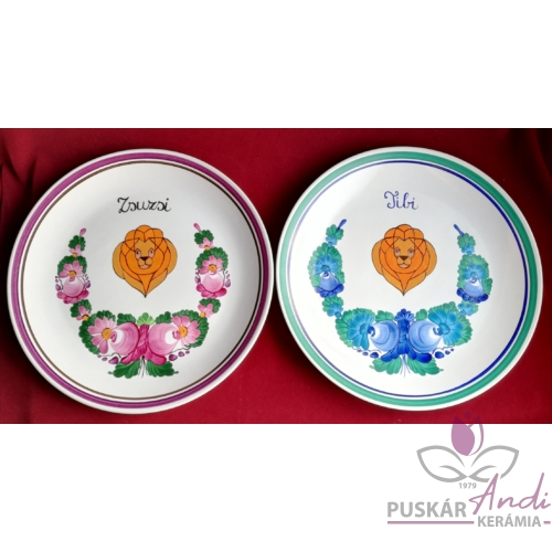 Fali tányérok egy oroszlán jegyű ikerpár születésnapjára  Ø26 cm