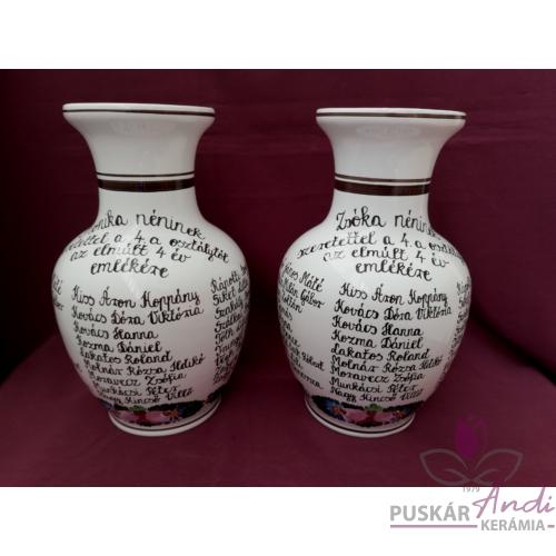 Nagy váza hasas 4. osztály év végi köszönőajándéka tanárnéniknek /24 cm/