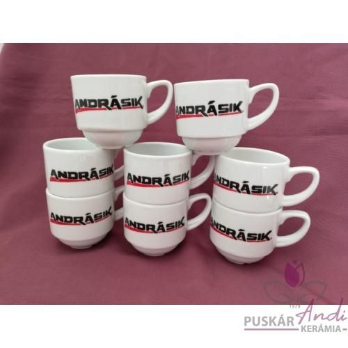 ANDRÁSIK kávés csésze céges ajándéka