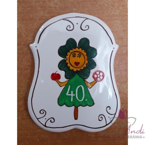 Óvoda logója 40. születésnapra hűtőmágnesre