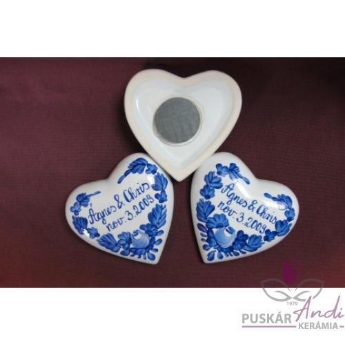 Domboros szív hűtőmágnes Ágnes & Chris