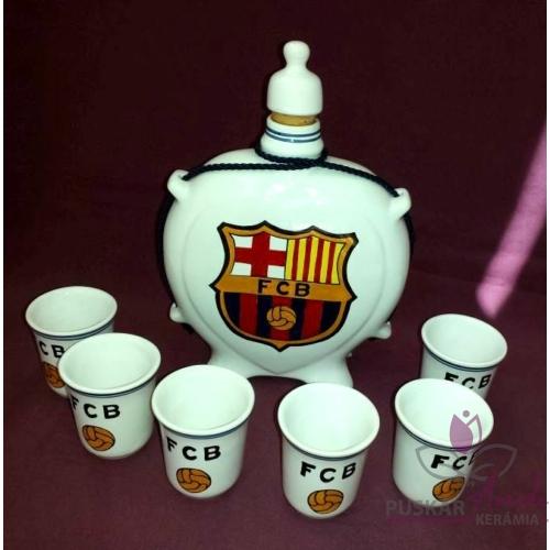 FC Barcelona pálinkás készlet
