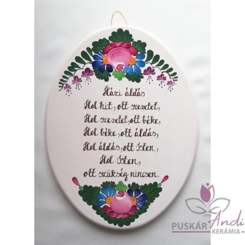 Ovális házi áldás plakett