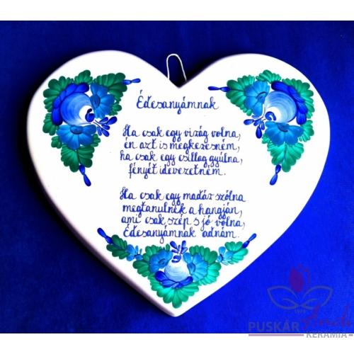 Szív alakú plakett  Édesanyámnak Hacsak egy madár volna...