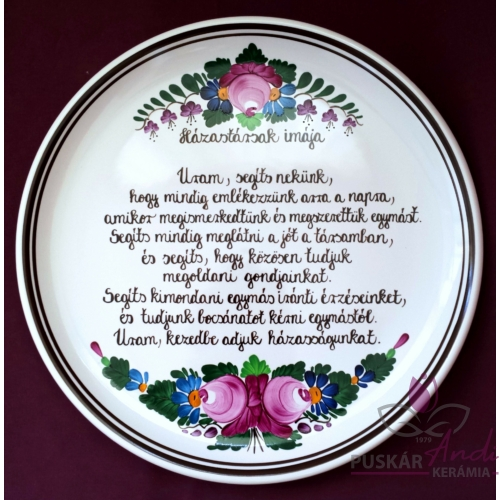 Pizzás tányér  /Ø32 cm/   Házastársak imája