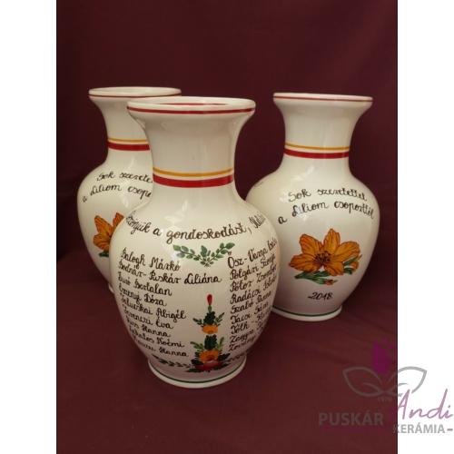 Nagy váza /24 cm/ ovis ballagásra, csoportnévsorral /18 névvel/