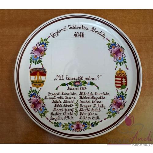 Fali pizzás tányér nyugdíjba vonulás alkalmából  Ø32 cm