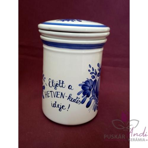 Teafű áztató készlet 70. születésnapra