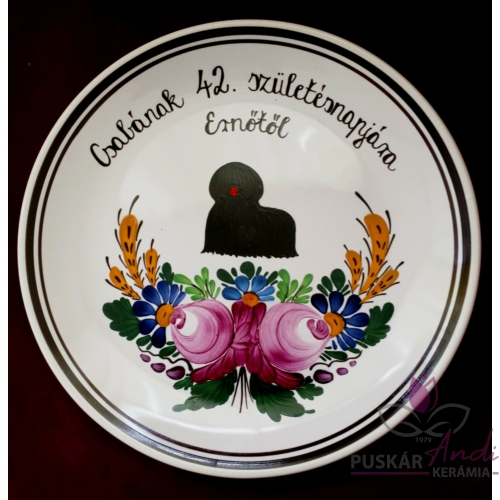Fali tányér 42. születésnap alkalmából  Ø26 cm