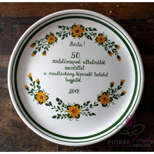Fali pizzás tányér 50. születésnap alkalmából  Ø32 cm