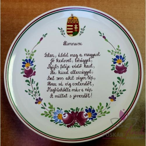 Pizzás tányér  /Ø32 cm/   Magyar himnusz