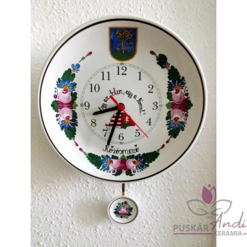 Kőrösmező címere tányér órára festve